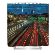 Path To And From Nyc Shower Curtain