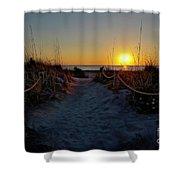 Path To Beach Shower Curtain