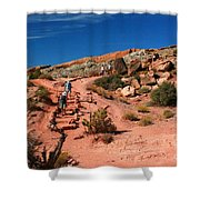 Path To Double O Arch Arches National Park Shower Curtain