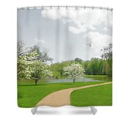 Path To Heart Shower Curtain