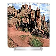 Path To Red Rocks Shower Curtain