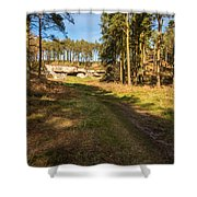 Path To St Cuthbert's Cave Shower Curtain