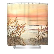 Path To Sunlit Waters Shower Curtain