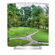 Path To The Mound Shower Curtain