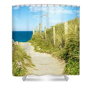 Path To The Ocean Shower Curtain