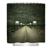 Path Shower Curtain by Zoltan Toth