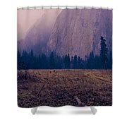 Pathway During First Snow In Yosemite Valley Shower Curtain by Priya Ghose