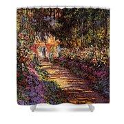 Pathway In Monet's Garden Shower Curtain