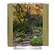 Pathway Into Fall Shower Curtain
