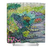 Pathway Of Flowers Shower Curtain