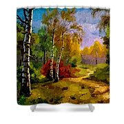 Pathway Through The Forest H B Shower Curtain
