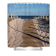 Pathway To Beach Seaside New Jersey Shower Curtain