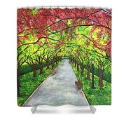 Serenity  Shower Curtain by Lisa Bentley