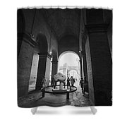Pathway To History In Rome Shower Curtain