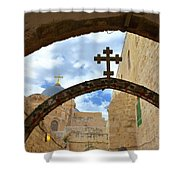 Pathway To The Cross Shower Curtain