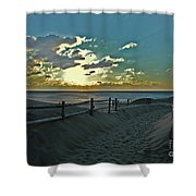 Pathway To The Sunrise Shower Curtain