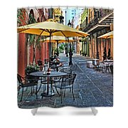 Patio Cafe In Nola Shower Curtain
