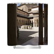 Patio De Los Leones Nasrid Palaces Alhambra Granada Shower Curtain