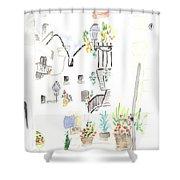Patio Shower Curtain