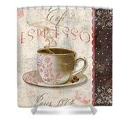 Patisserie Cafe Espresso Shower Curtain