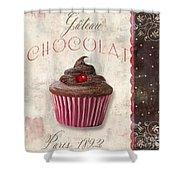 Patisserie Chocolate Cupcake Shower Curtain