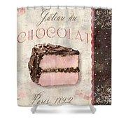 Patisserie Gateau Au Chocolat Shower Curtain