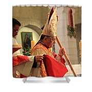 Patriarch Fouad Twal At Christmas Mass Shower Curtain