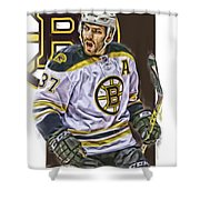 Patrice Bergeron Boston Bruins Oil Art 1 Shower Curtain