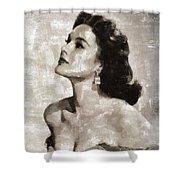 Patricia Medina, Vintage Actress Shower Curtain