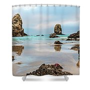 Patrick And Friends Visit Cannon Beach Shower Curtain