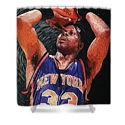 Patrick Ewing Shower Curtain