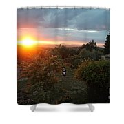 Patrignone At Sunset Shower Curtain