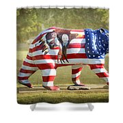 Patriot Bear Shower Curtain
