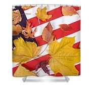 Patriotic Autumn Colors Shower Curtain