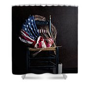 Patriotic Decor Shower Curtain