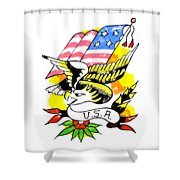 Patriotic Eagle Tattoo Shower Curtain