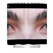 Patriotic Eyes - Poster Shower Curtain