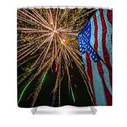 Patriotic Fireworks Shower Curtain