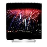 Patriotic Fireworks S F Bay Shower Curtain