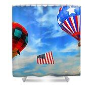 Patriotic Flight Shower Curtain