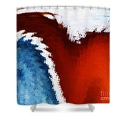 Patriotic Heart Shower Curtain