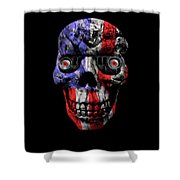 Patriotic Jeeper Cyborg No. 1 Shower Curtain