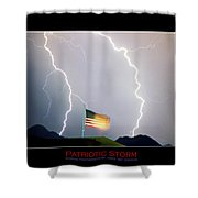 Patriotic Storm - Poster Print Shower Curtain