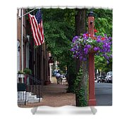 Patriotic Street In Philadelphia Shower Curtain