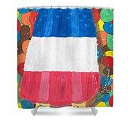 Patriotic Summertime Shower Curtain