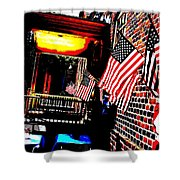 Patriotic Tavern Shower Curtain