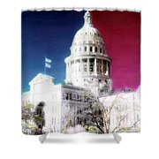 Patriotic Texas Capitol Shower Curtain