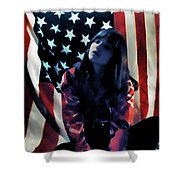 Patriotic Thoughts Shower Curtain