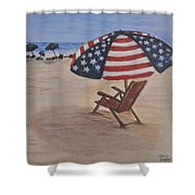 Patriotic Umbrella Shower Curtain