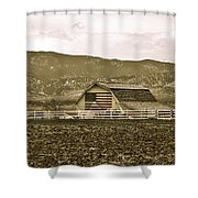 Patriotism And Barn Shower Curtain